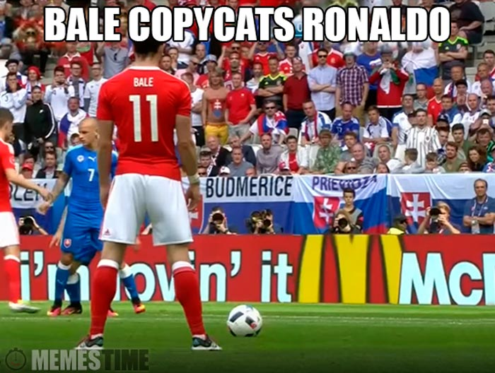 Meme Gareth Bale – Ronaldo's Free Kick style should pay Royalties…
