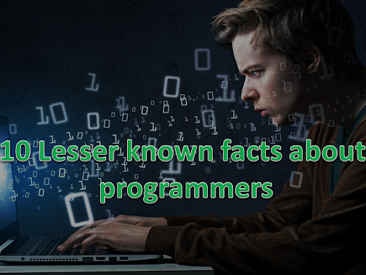 10 lesser known facts about programmers
