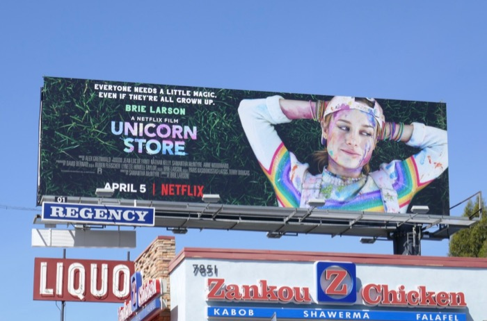 Unicorn Store movie billboard