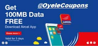 Aircel Free 100mb Internet trick Data Offer