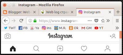 Так отображается Инстаграм в мобильной версии на компьютере - рамки браузера сдвинул