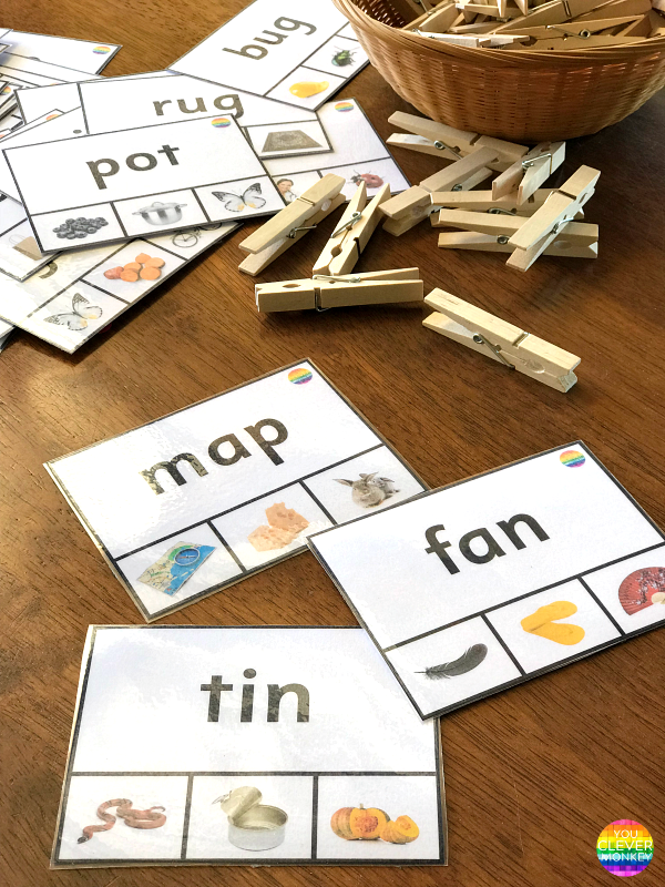 CVC Word Clip Cards | you clever monkey