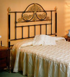 cabecero clasico, cabezal cama forja, cabecero laton, cabecero barroco