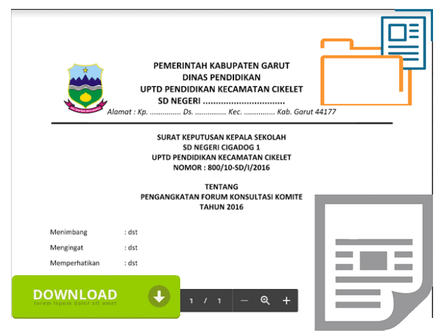 Contoh SK Komite Sekolah Untuk Keperluan KIP Pada Dapodik 2016