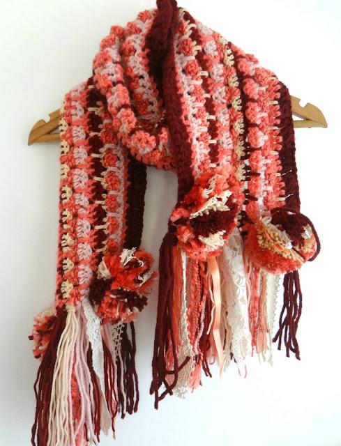 Little Treasures: Crochet Bohemian Scarf - free pattern