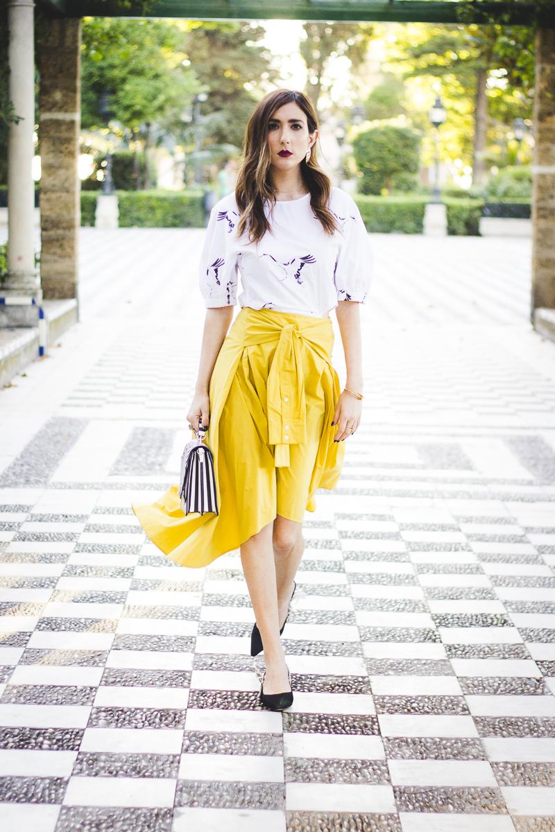 Yellow midi skirt haul de rebajas en zara blog de moda - Zara en cadiz ...