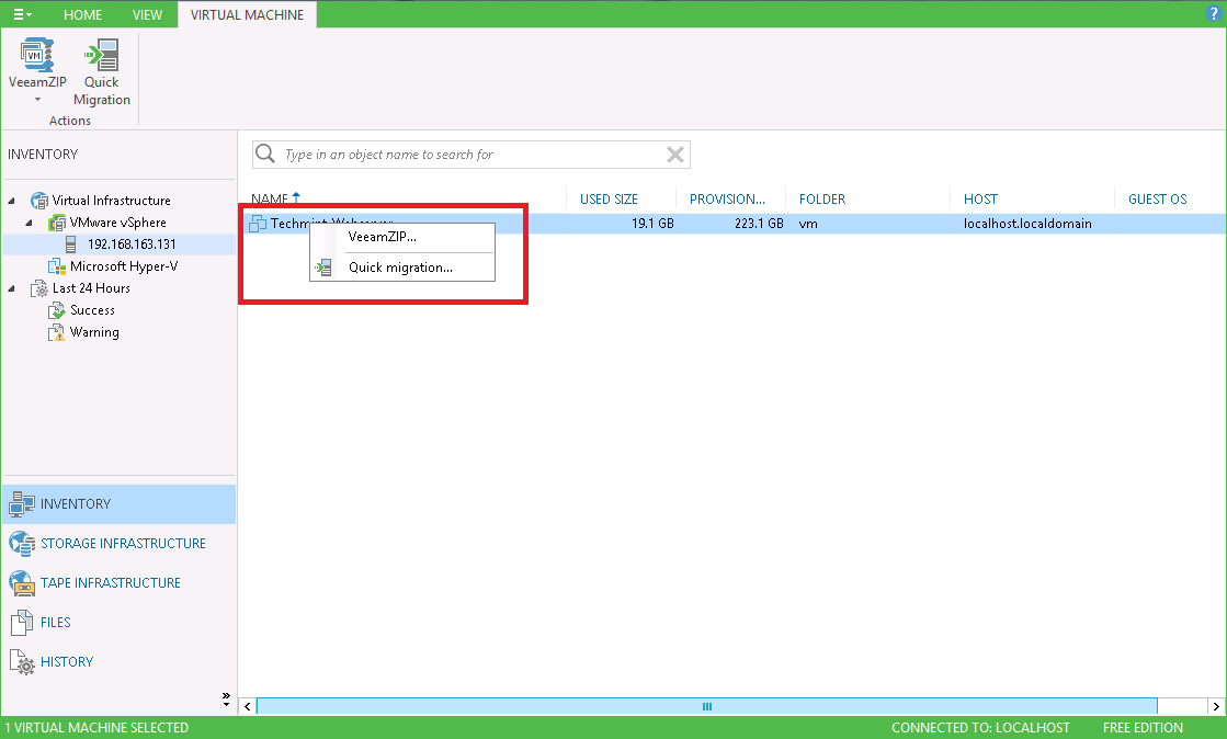 How to take VM Backup free using Veeam Backup and Replication