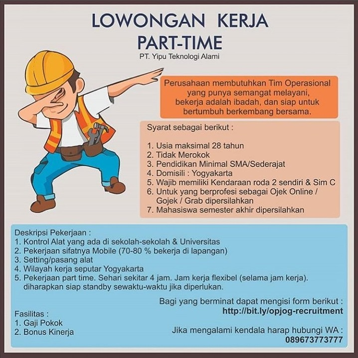 Lowongan Kerja Part Time Di Yogyakarta Bursa Lowongan Kerja