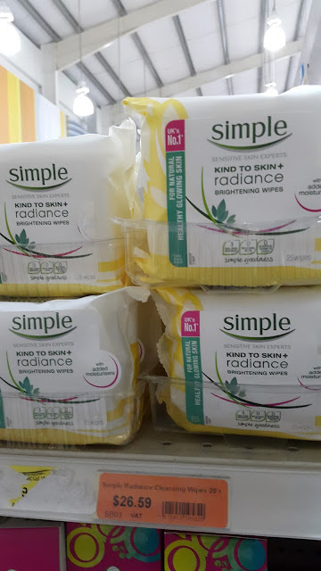 Simple Brightening Wipes display in Massy Stores www.modenmakeup.com