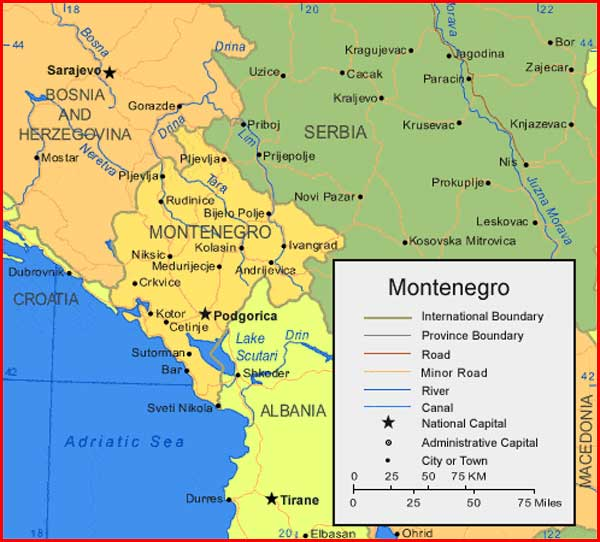 image: Montenegro Map High Resolution