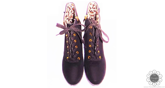 DressLily.com Review | Stylish Lace-Up and Buckle Design Solid Color Ankle Boots For Women (Product Reviews at www.TheGracefulMist.com | @TheGracefulMist)