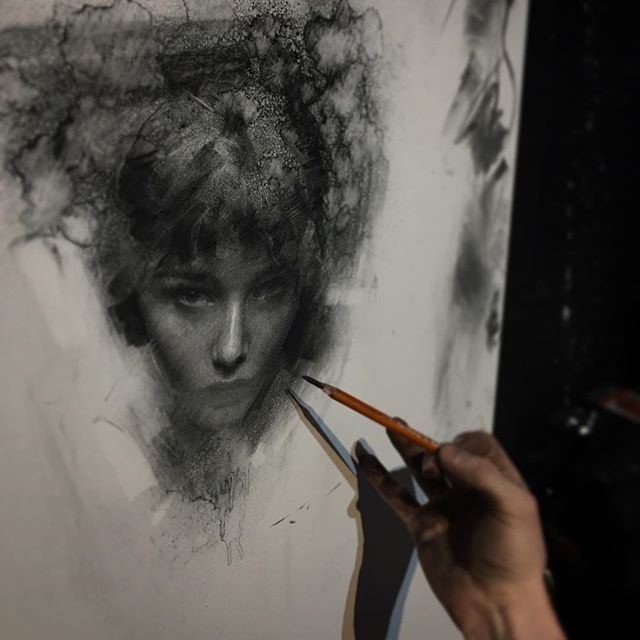 08-Casey-Baugh-Expressive-Charcoal-Portrait-Drawings-www-designstack-co