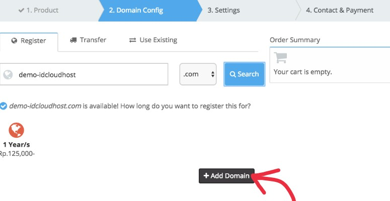 Add Domain IDCloudHost