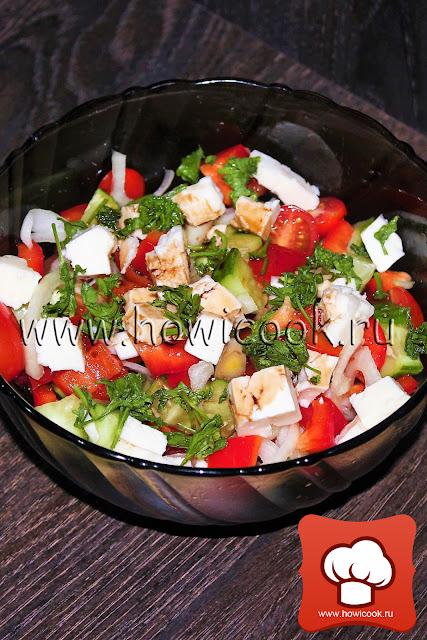 рецепт как приготовить шопский салат