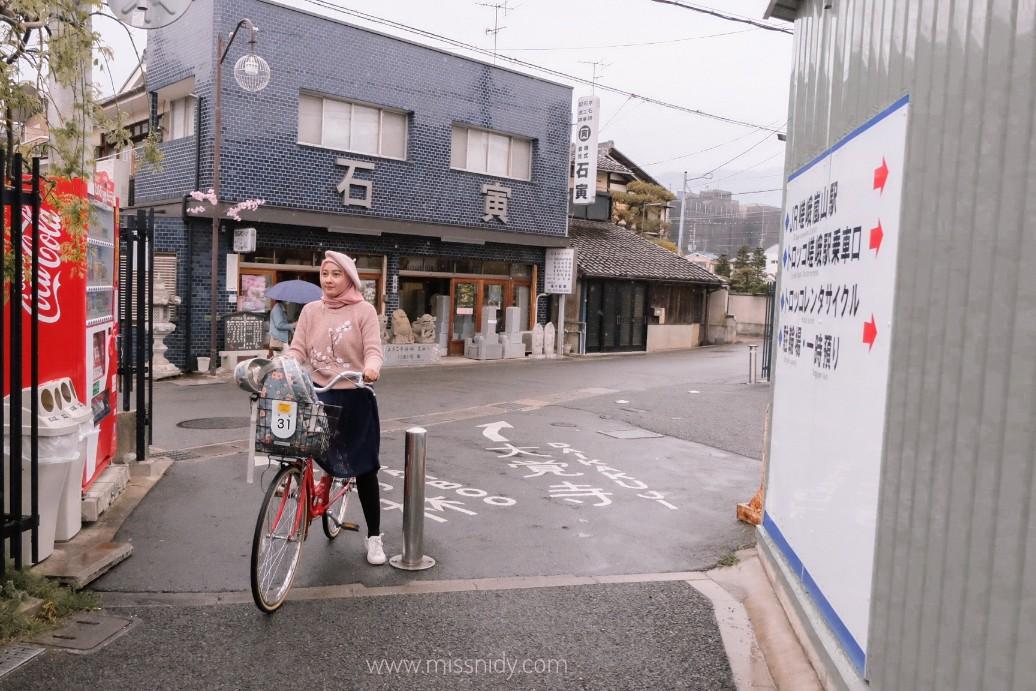 pengalaman rental sepeda di kyoto