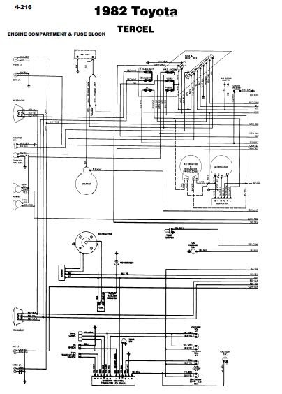 repair-manuals: Toyota Tercel 1981 Wiring Diagrams