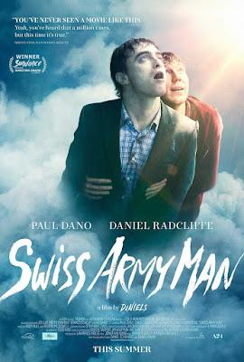 Poster Swiss Army Man 2016, Película ganadora en Sitges 2016