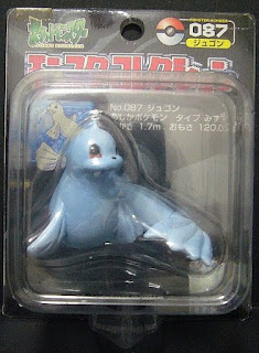 Dewgong Pokemon figure Tomy Monster Collection black package series