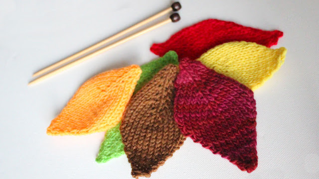 http://www.studioknitsf.com/2015/11/how-to-knit-a-leaf-thanksgiving-diy-for-beginning-knitters/