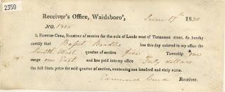 1830 Kentucky Land Grant to Bassett Beadles