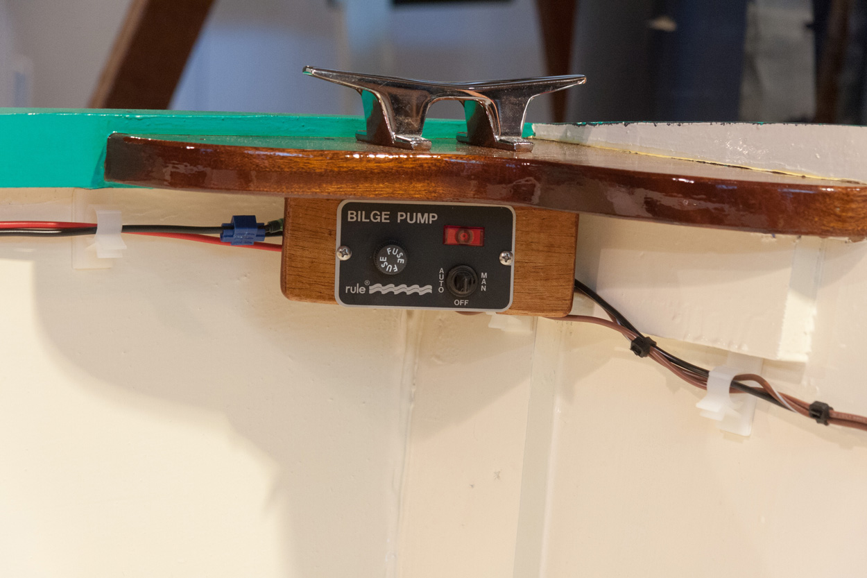 Michaels Boatbuilding Blog Bilge Pump Installed Rule Wiring This Is A Switch Style 41 It Has Fuse Holder For The 3 Amp That Protects Mate 500 Red Wire Goes To
