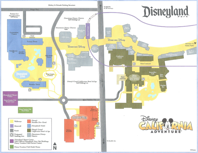 Anaheim California adventure map