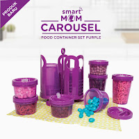 Dusdusan Smart Mom Carousel Food Container Set Purple ANDHIMIND