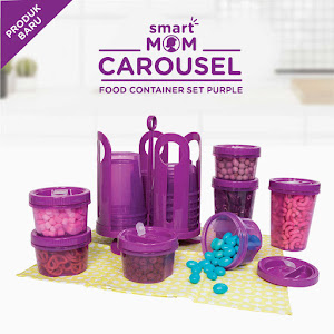 Smart Mom Carousel Food Container Set Purple