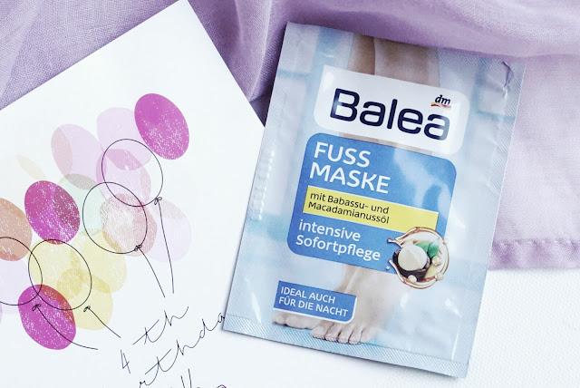 Pink Box April 2016 Balea Fußmaske