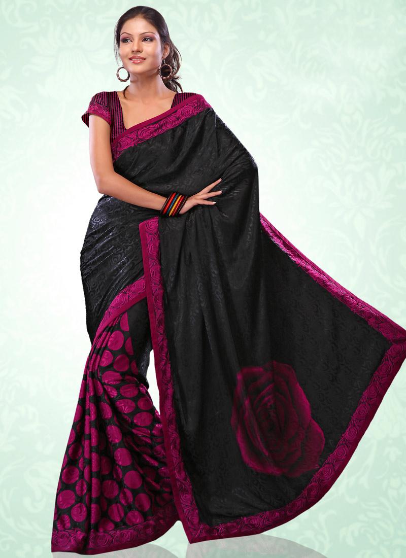 Saree World: WOMEN'S WORLD: SAREES IN BLACK