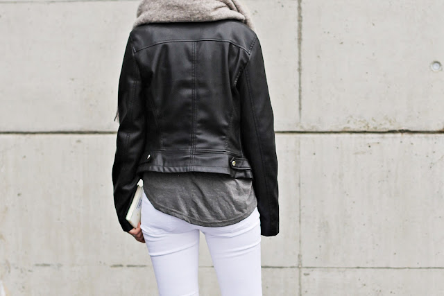 fake leather biker jacket Zara