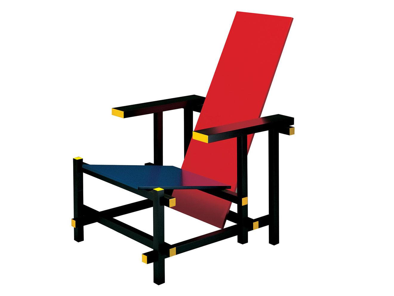 the dobson factory chaise bleue et rouge de geritt rietweld. Black Bedroom Furniture Sets. Home Design Ideas