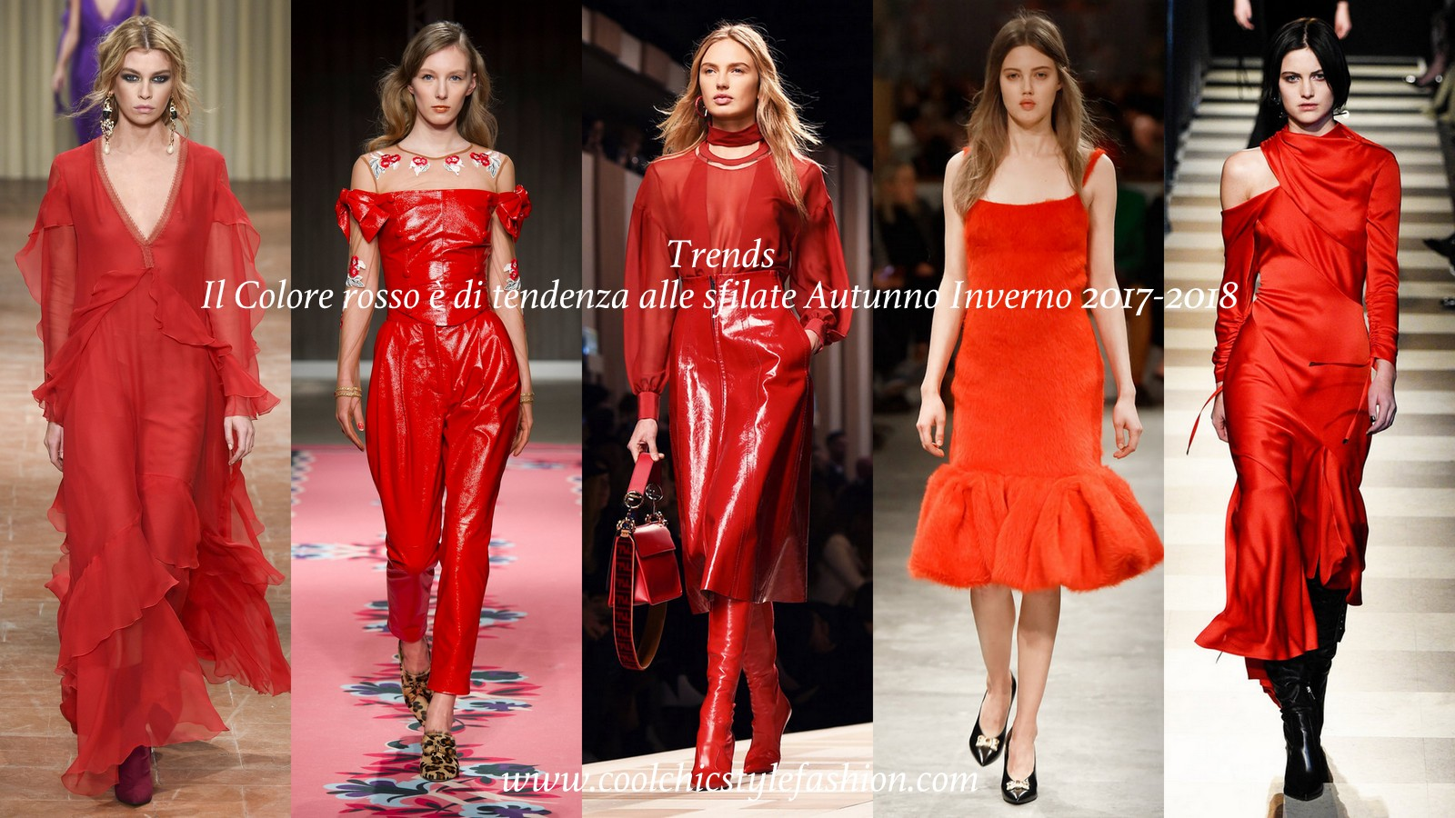 Fashion Inspiration Color Trend Red Fall Winter 2017 2018