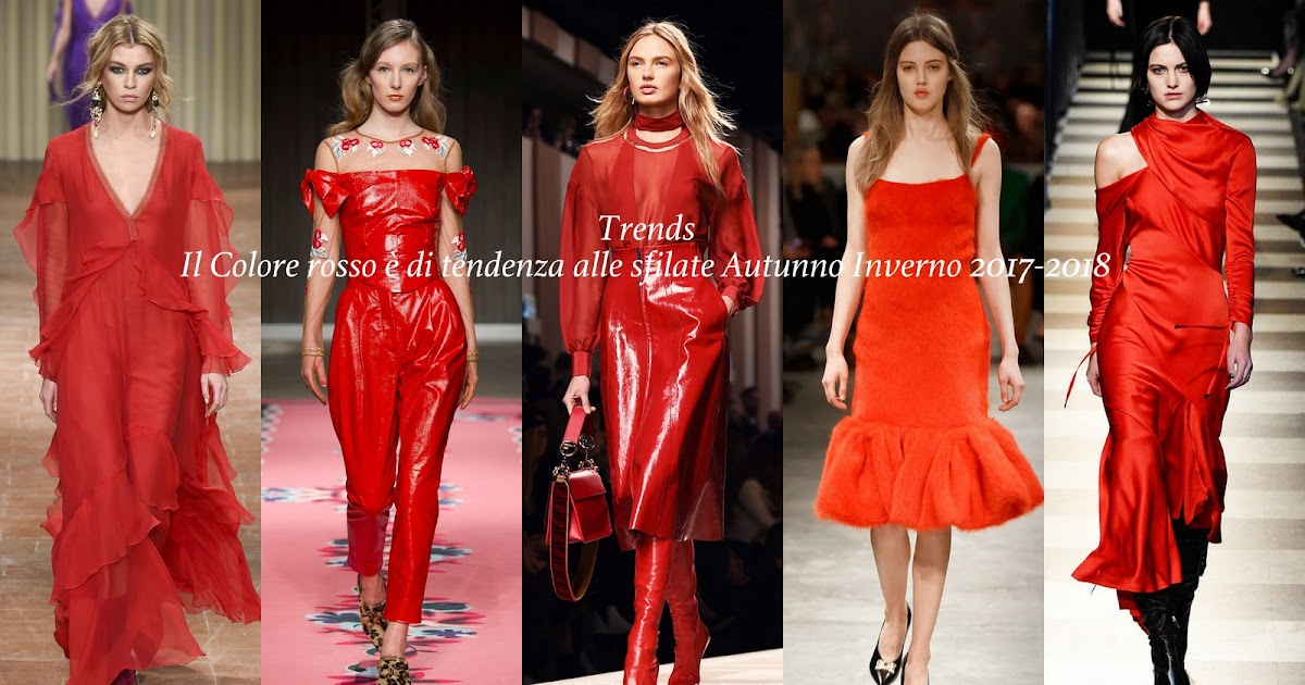 Fashion Inspiration Color Trend Red Fall Winter 2017
