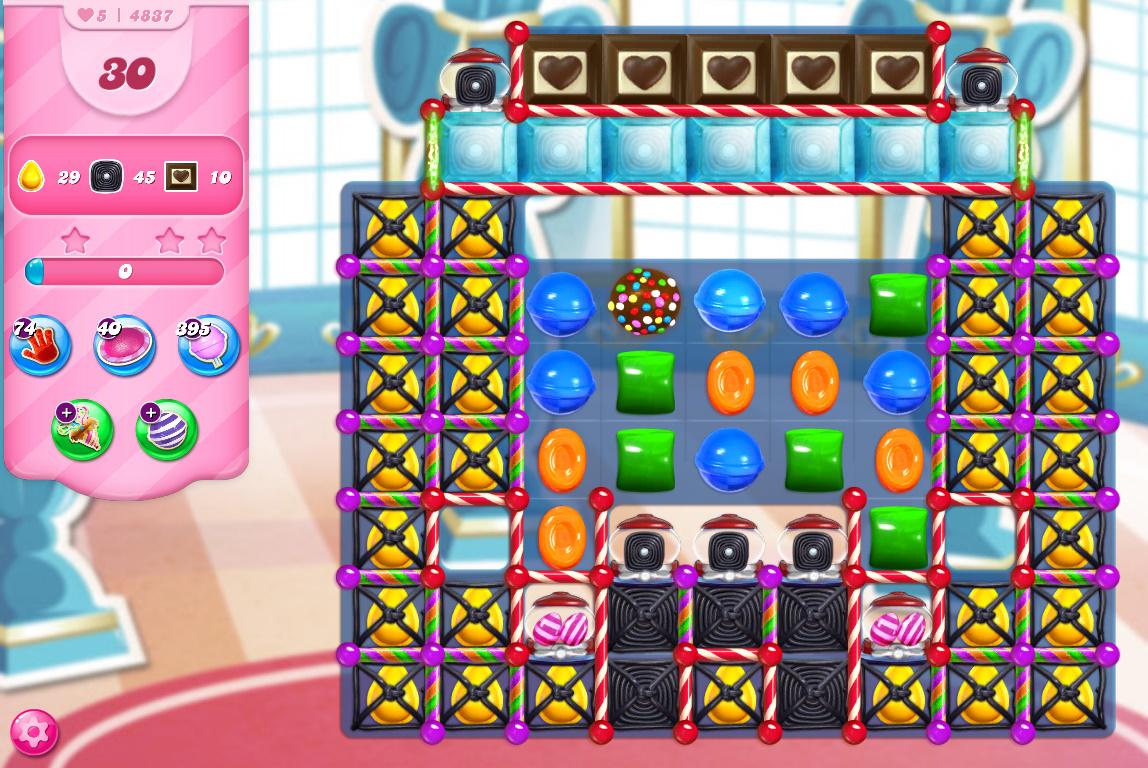 Candy Crush Saga level 4837
