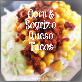 Corn and Soyrizo Queso Tacos by BeckyCharms // www.beckycharms.com