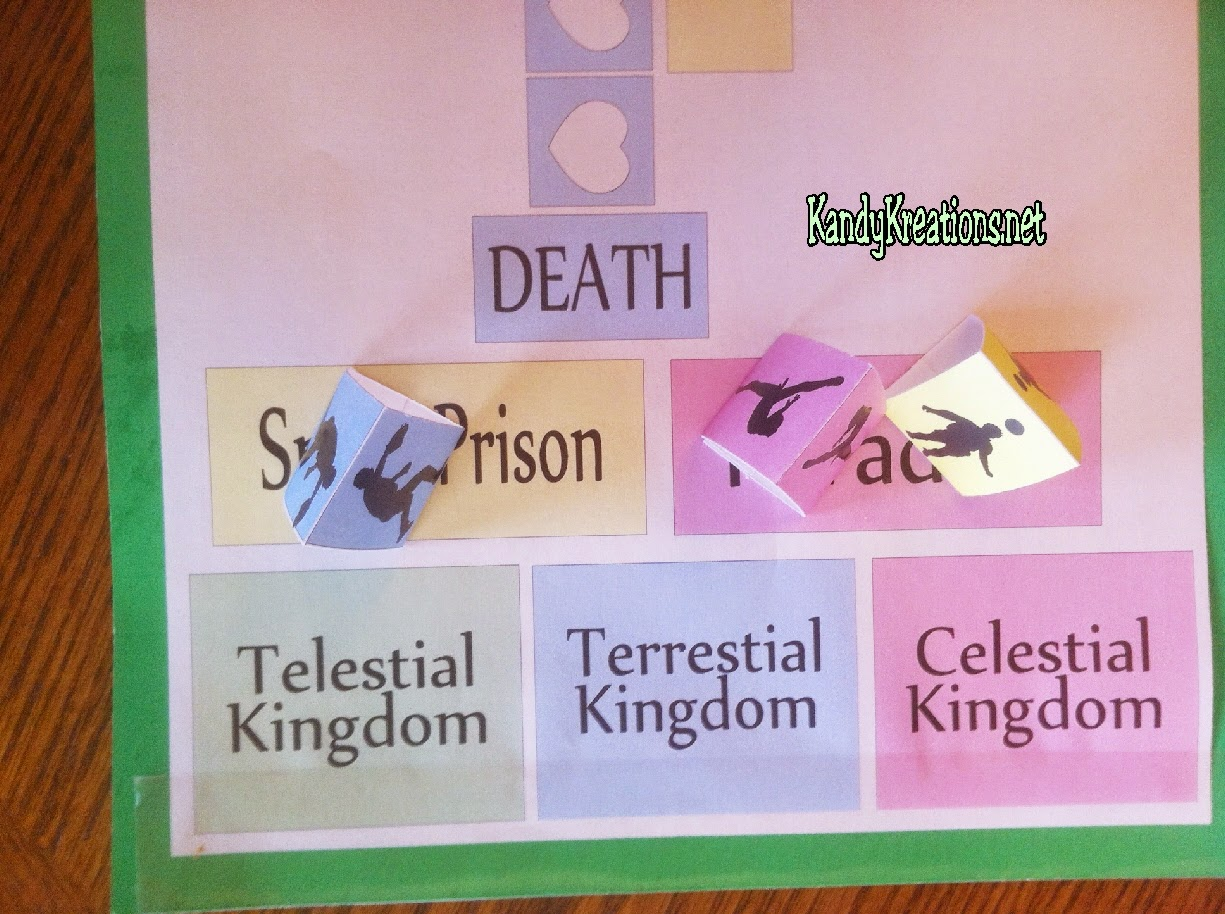 Awaiting Judgement in the Plan of Salvation Board Game. Free Printable board game and ideas to teach for FHE or YM/YW activity.
