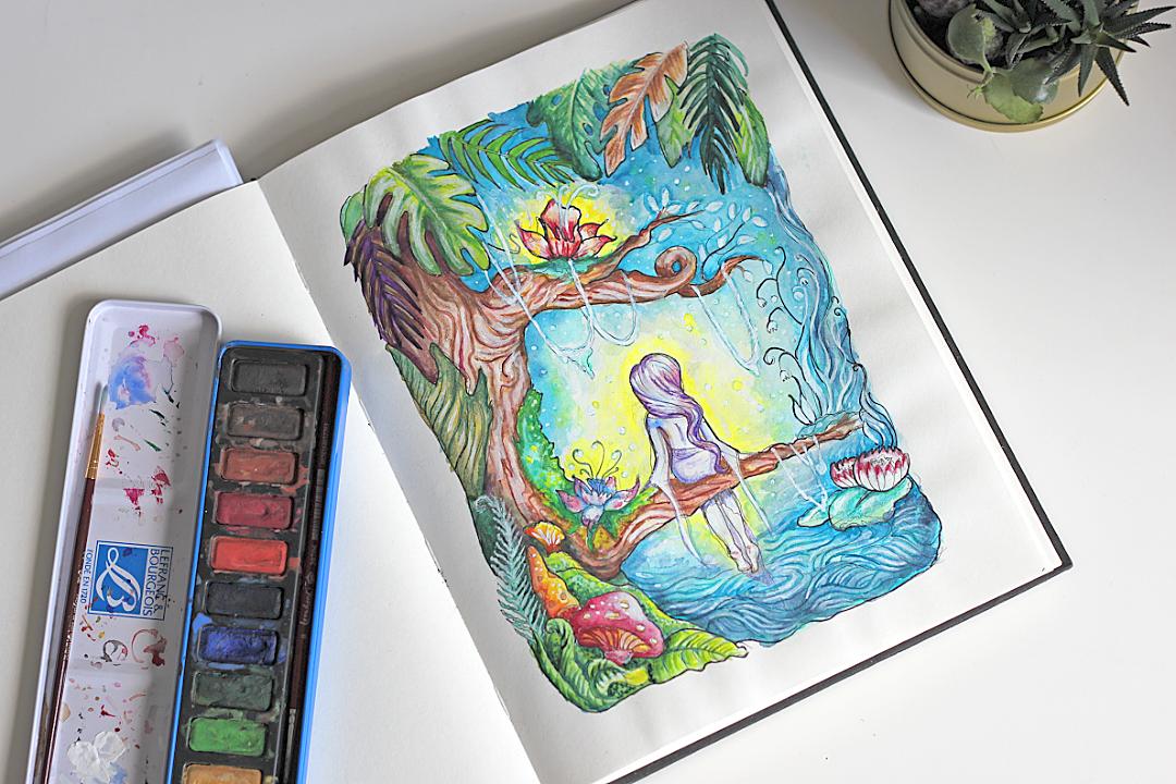 akwarele ilustrator sztuka