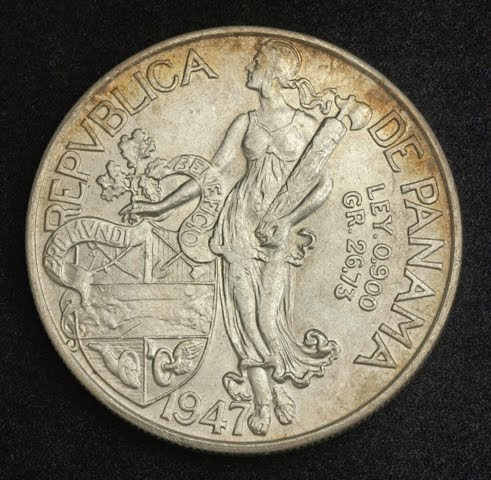 Panama Large Silver Balboa Coin 1947 World Banknotes Amp Coins Pictures Old Money Foreign