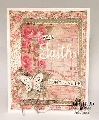 Stamp/Die Duos: Walk By Faith  Paper Collection: Blushing Rose  Custom Die: Fancy Circles