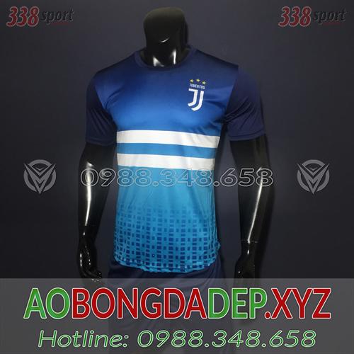 Áo Juventus 2019 Training 5 Màu Xanh Đẹp