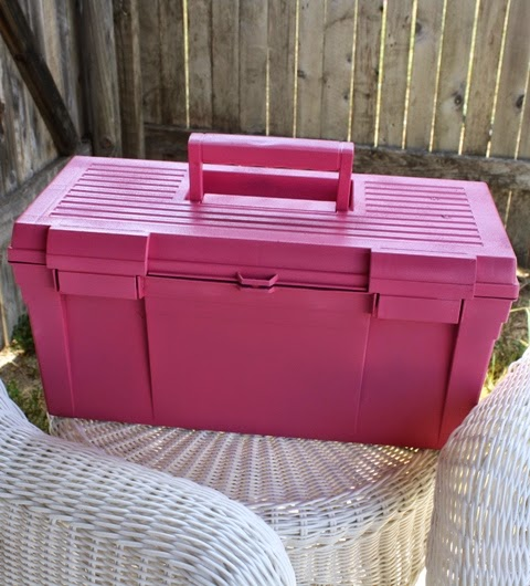upcycled garden tool caddy