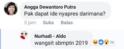 Elektabilitas Poros Ketiga, Nurhadi - Aldo di Pilpres 2019
