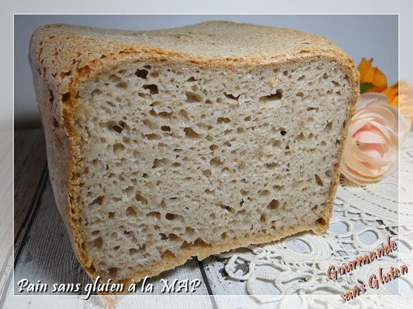 Pain sans gluten à la MAP Machine à pain, recette facile