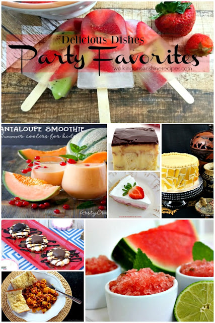 Over 100 recipes your family is going to love with this week's Delicious Dishes Recipe Party featured on Walking on Sunshine Recipes.