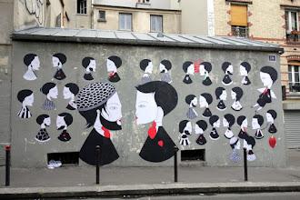 Street Art : Fred le Chevalier - Papiers, ciseaux, murmures...