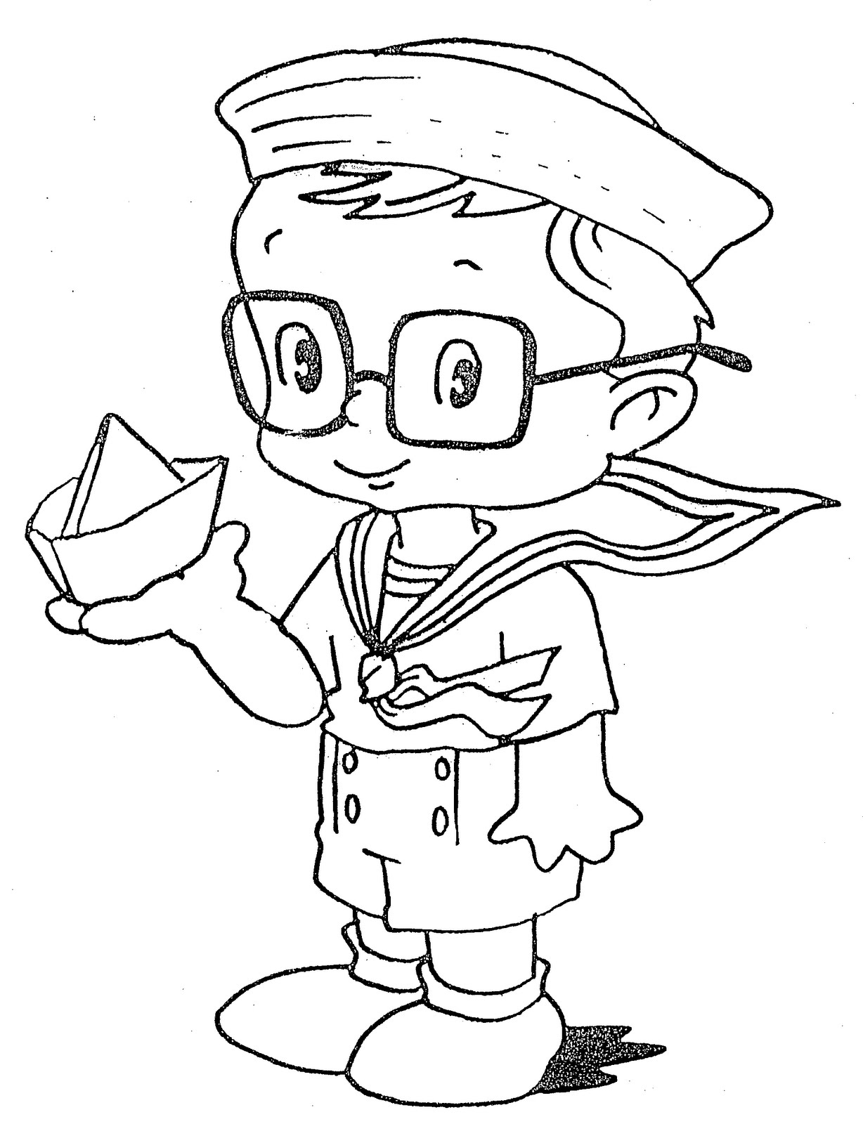 Mexican Boy Coloring Page Sketch Coloring Page