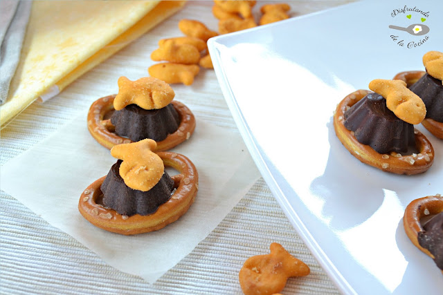BOMBONES DE CHOCOLATE Y GALLETAS GOLDFISH