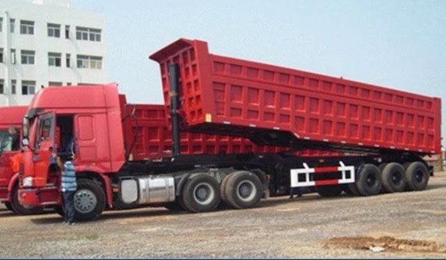 dump truk tronton trailer besar