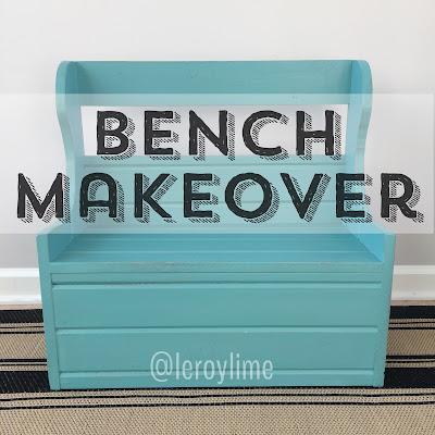Bench Makeover : Before & After - LeroyLime